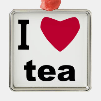 I Love Tea Christmas Ornament