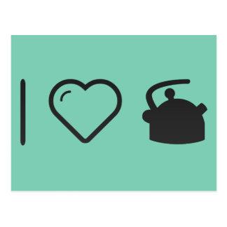 I Love Tea Kettles Postcard