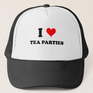 I Love Tea Parties Trucker Hat