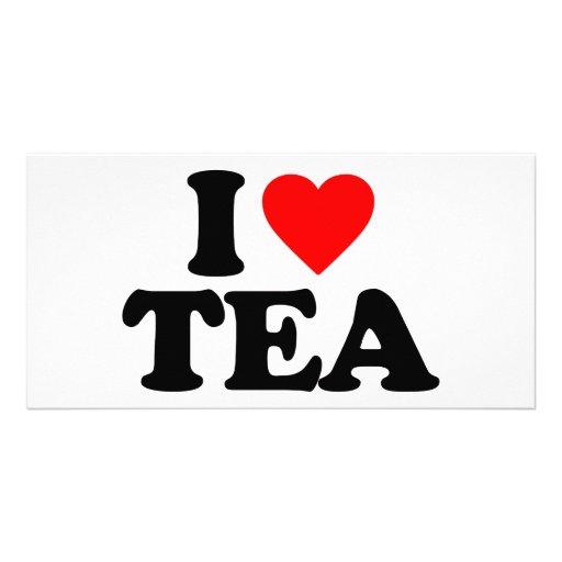 I LOVE TEA CUSTOM PHOTO CARD