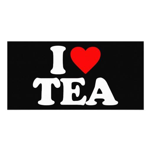 I LOVE TEA PERSONALIZED PHOTO CARD