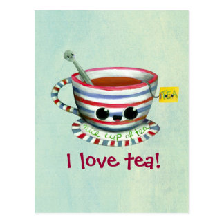 I love Tea Postcard