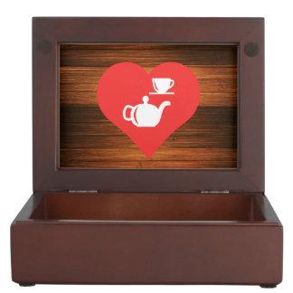 I Love Tea Sets Cool Icon Keepsake Box