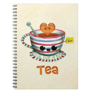 I love Tea Spiral Notebooks