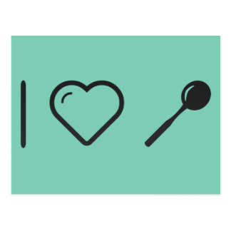 I Love Tea Spoons Postcard