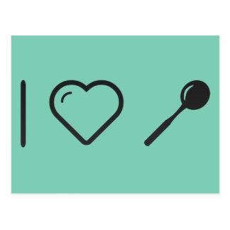 I Love Tea Spoons Postcard