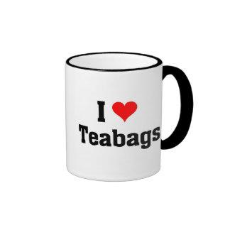I love Teabags Ringer Mug