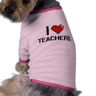 I love Teachers Ringer Dog Shirt