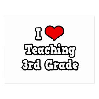 I Love Teaching 3rd Grade Postcard