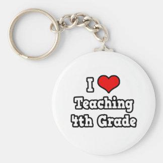 I Love Teaching 4th Grade Key Chain