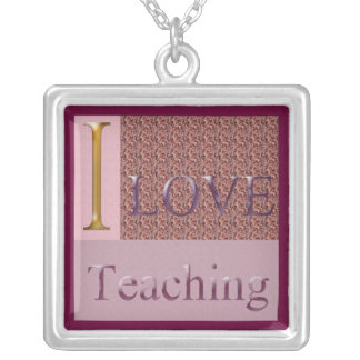 I Love Teaching Necklace