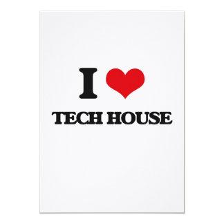 I Love TECH HOUSE Custom Invitation Cards