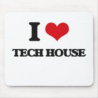 I Love TECH HOUSE Mouse Pad