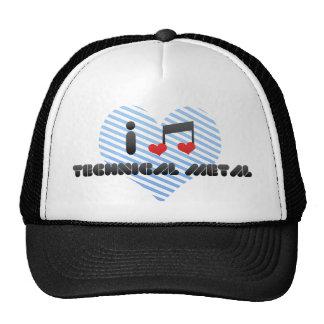 I Love Technical Metal Trucker Hat