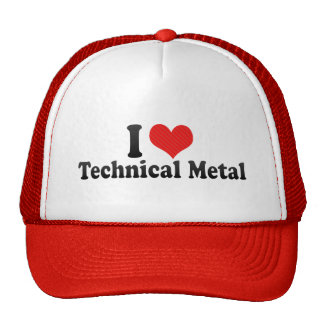 I Love Technical Metal Mesh Hats