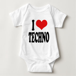 I Love Techno Baby Bodysuit