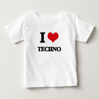 I Love TECHNO Baby T-Shirt