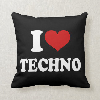 I Love Techno Cushion