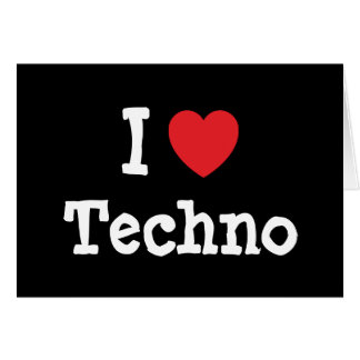 I love Techno heart custom personalized Card