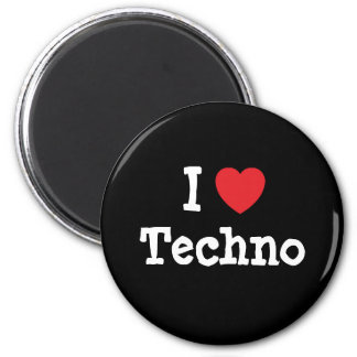 I love Techno heart custom personalized Fridge Magnet