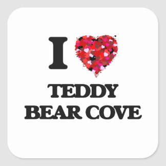 I love Teddy Bear Cove Washington Square Sticker
