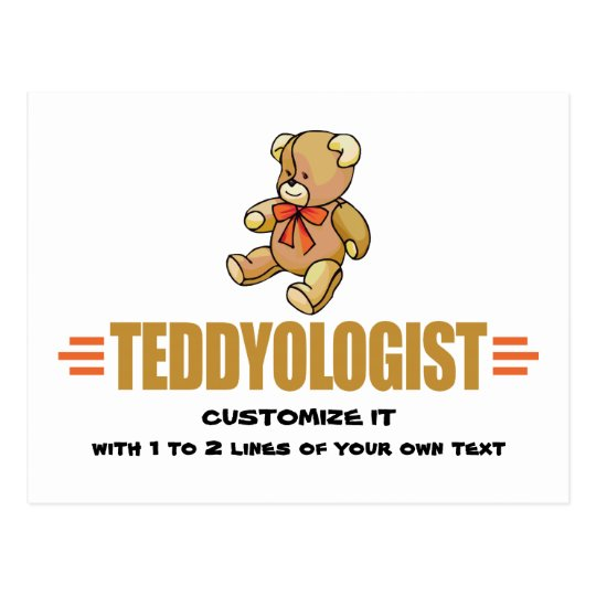 I Love Teddy Bears Postcard