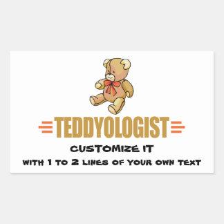 I Love Teddy Bears Rectangular Sticker