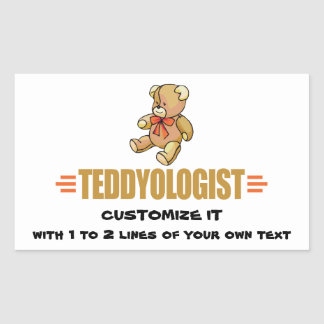 I Love Teddy Bears Rectangular Stickers