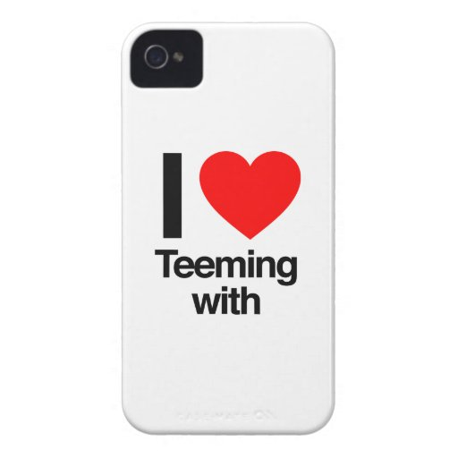 i love teeming with iPhone 4 cases