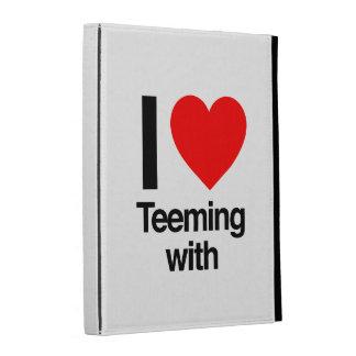 i love teeming with iPad cases