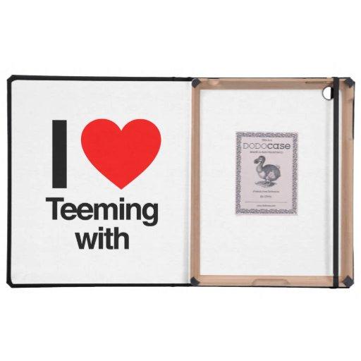 i love teeming with iPad cover