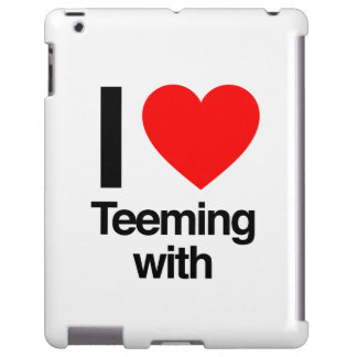i love teeming with iPad case