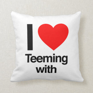 i love teeming with pillows