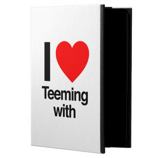 i love teeming with iPad air case