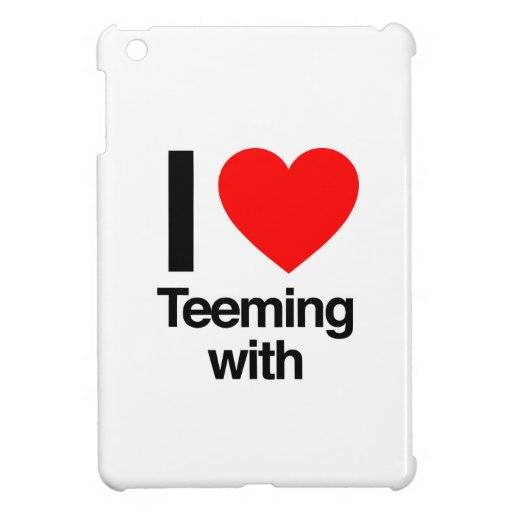i love teeming with iPad mini case