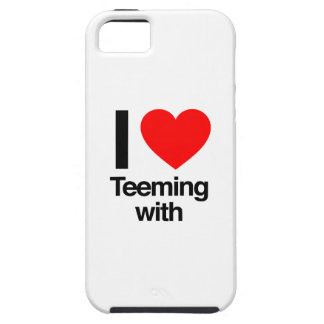 i love teeming with iPhone 5 case
