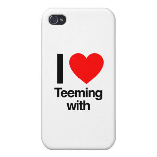 i love teeming with iPhone 4 cover