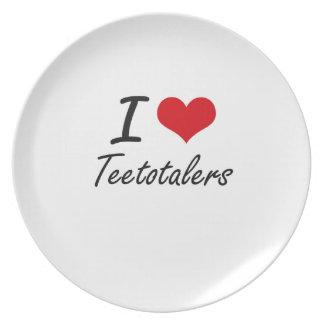 I love Teetotalers Dinner Plate