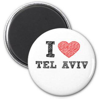 I Love Tel Aviv 6 Cm Round Magnet