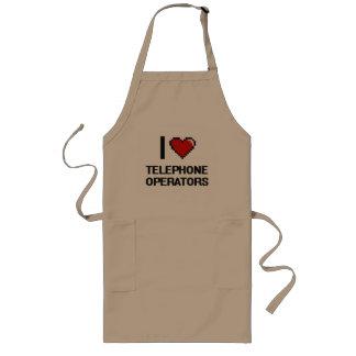 I love Telephone Operators Long Apron