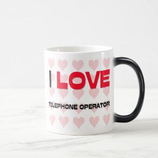 I LOVE TELEPHONE OPERATORS MUGS
