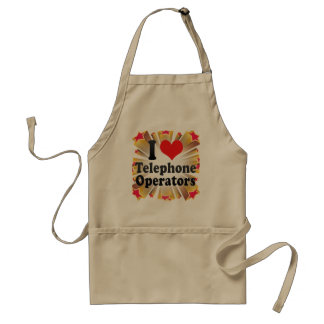 I Love Telephone Operators Standard Apron
