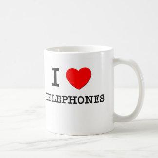 I Love Telephones Coffee Mugs