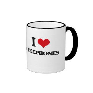 I love Telephones Ringer Mug