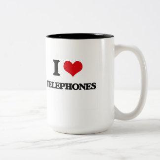 I love Telephones Two-Tone Mug