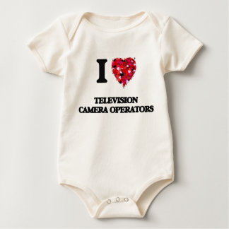 I love Television Camera Operators Baby Bodysuits