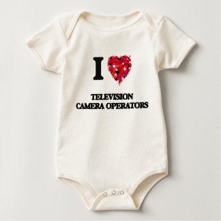 I love Television Camera Operators Baby Bodysuits