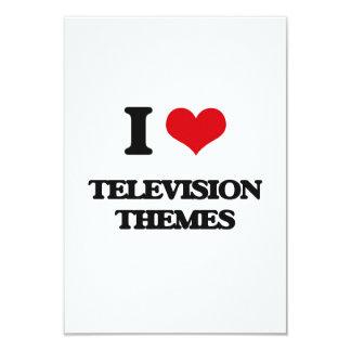 "I Love TELEVISION THEMES 3.5"" X 5"" Invitation Card"