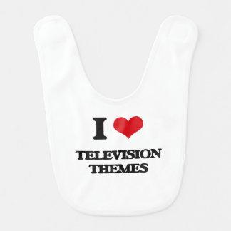 I Love TELEVISION THEMES Bibs