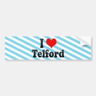 I Love Telford United Kingdom Bumper Sticker